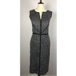 Ann Taylor Tweed Sleeveless Lined Sheath Dress
